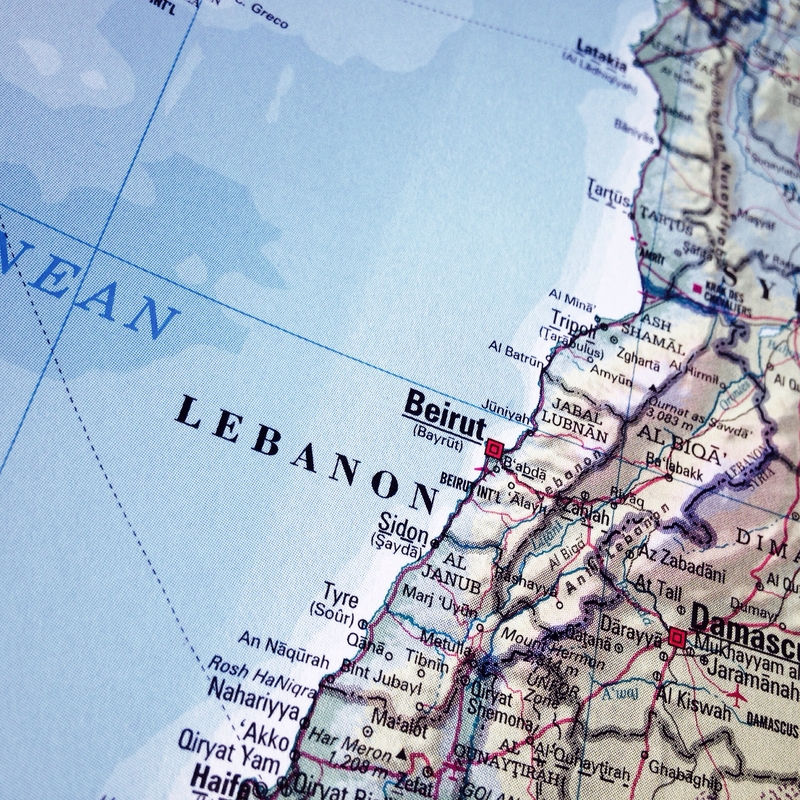 Libanon map